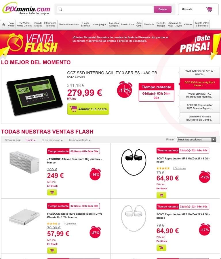 Webs con ventas flash propias | E-Commerce Opinions