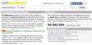 NetRenderer - test en navegador IExplorer