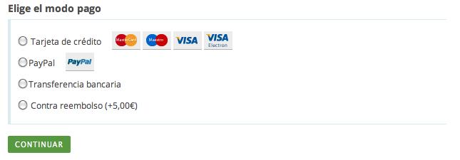 Metodos de pago - Miscota