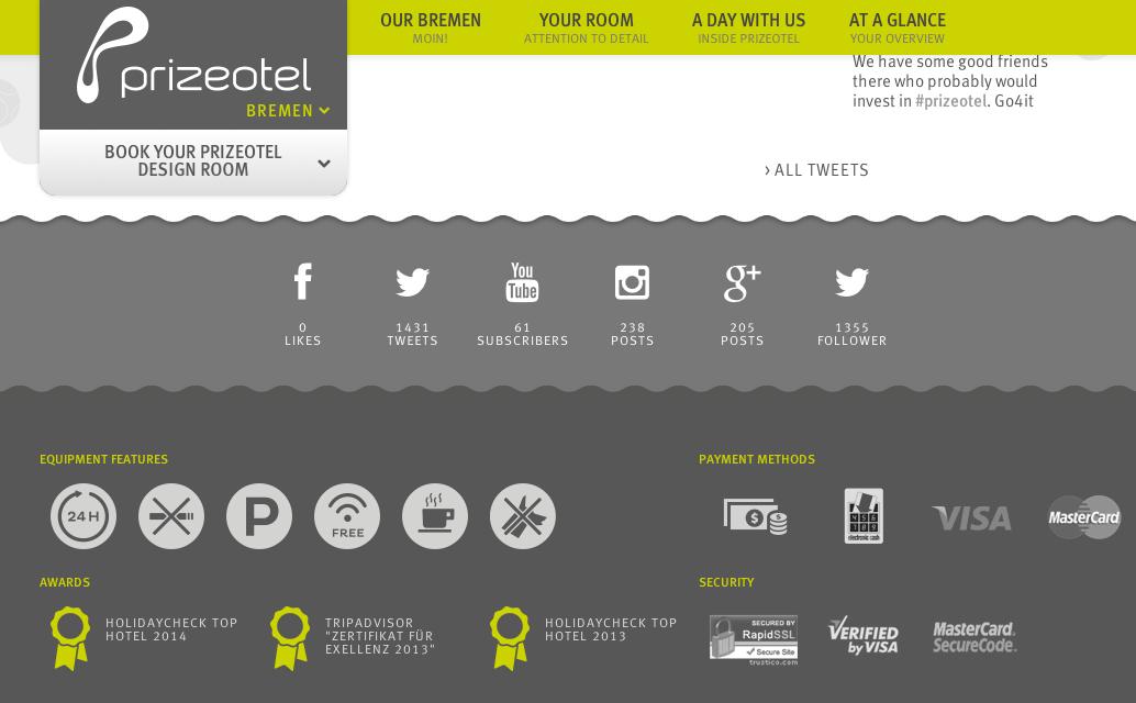Social Media - Prizeotel