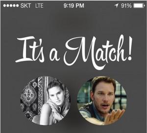 Its a Match Gloria Alarcon Chris Pratt